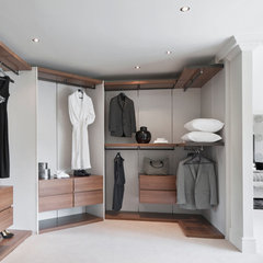 modern closet by Alexander James Interiors