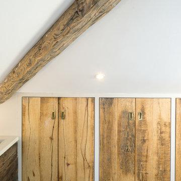 Bespoke Wardrobes for Loft Conversion - Beekeeper's Barn Wood