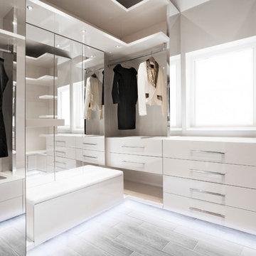 Contemporary Walk-In Dressing Room