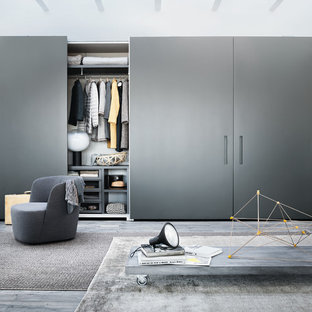 Design ideas for a contemporary wardrobe in Buckinghamshire.