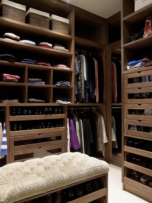 Inspiration For A Timeless Walk In Closet Remodel In Wiltshire With Open  Cabinets And Medium