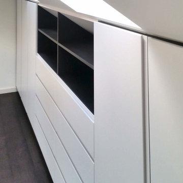 Loft conversion into a Wardrobe for additional storage