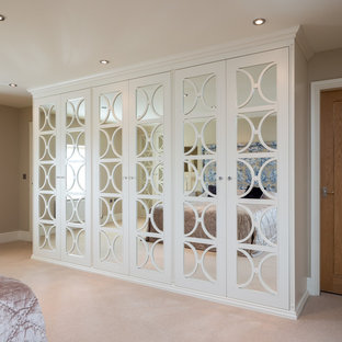 Mirrored Wardrobes with Fretwork