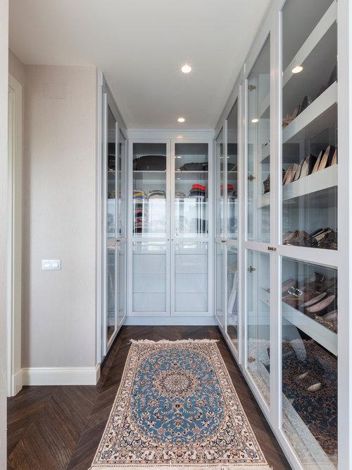 Dressings avec des portes de placard blanches et un placard porte vitr e - Porte de placard vitree ...