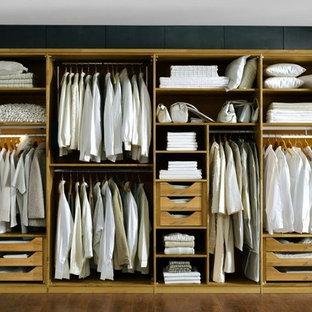 Design ideas for a contemporary wardrobe in London.