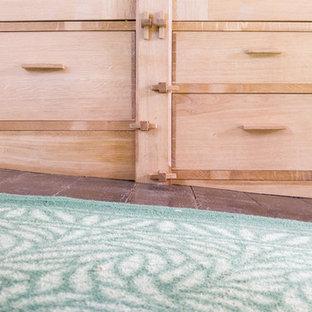 Sloping Floor detail - Bespoke Oak Wardrobe