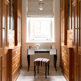 Inspiration for a traditional dressing room in London.