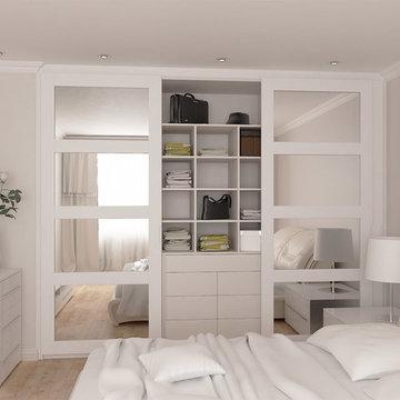 Vetro mirrored sliding door wardrobe range
