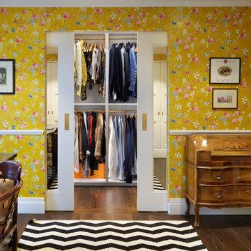 Victorian townhouse walk-in wardrobe