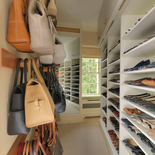 Design ideas for a traditional wardrobe in London.