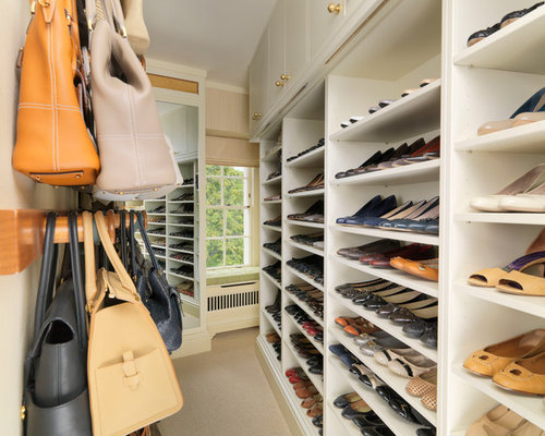 High Quality Traditional Carpeted Walk In Closet Idea In London