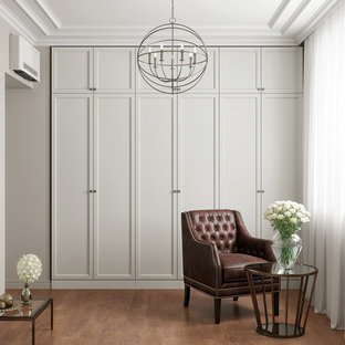 Walk In wardrobe with shaker style doors