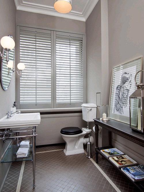 Photos et idées déco de WC et toilettes avec un sol en carrelage ...