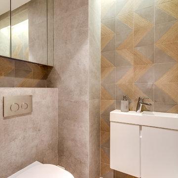 Neuilly-sur-Seine - Appartement privé de 150m2 - Toilette contemporain