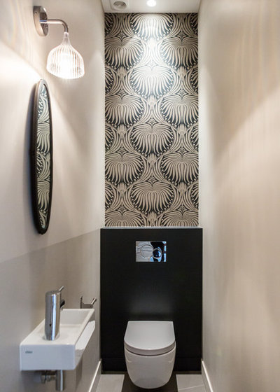 Contemporary Powder Room by Fanny Prat - Architecte d'intérieur