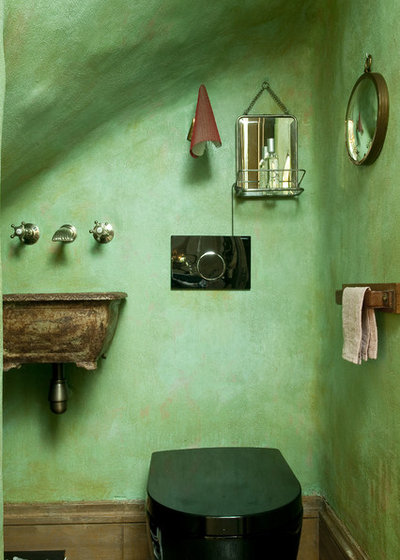 Eclectic Powder Room by d.mesure - Elodie Sire