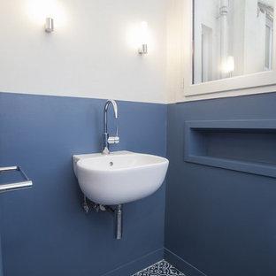 Aménagement d'un WC et toilettes contemporain.