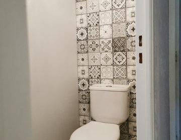 Rénovation murs/plafonds wc et plafond salle de bain
