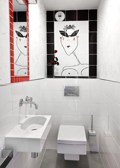 fotogalleria 50 bagni di servizio ricchi di stile ed eleganza. Black Bedroom Furniture Sets. Home Design Ideas