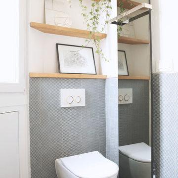 Salle de bain retro scandinave - Montmartre
