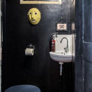 Réalisation d'un WC et toilettes bohème.