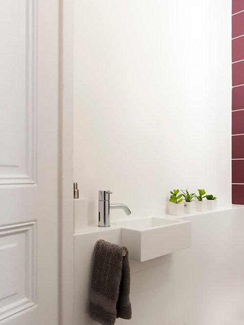 Photos et idées déco de WC et toilettes avec un lavabo intégré