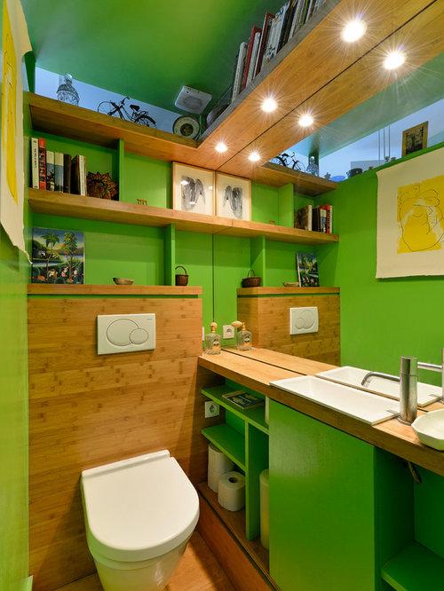 g stetoilette g ste wc mit gr nen fliesen und. Black Bedroom Furniture Sets. Home Design Ideas