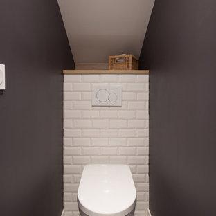 Inspiration pour un WC et toilettes urbain.