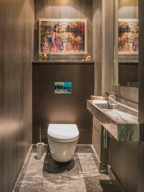 photos et id es d co de wc et toilettes contemporains. Black Bedroom Furniture Sets. Home Design Ideas