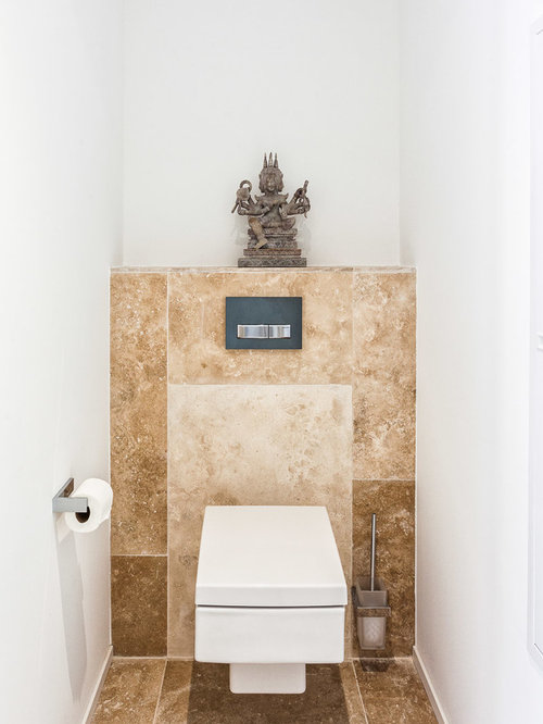 Photos et id es d co de wc et toilettes avec un carrelage beige - Carrelage toilettes photos ...