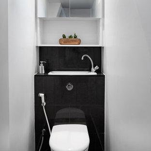 Photos Et Idées Déco De Wc Et Toilettes Avec Un Lavabo Intégré Et Un