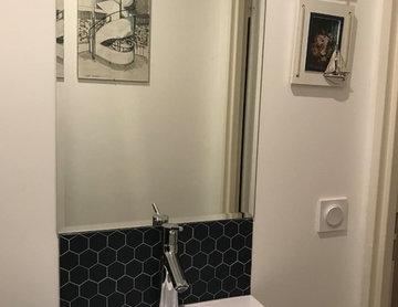 WC / Vasque suspendu / Miroir