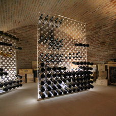 Contemporary Wine Cellar by Weinregal-Profi