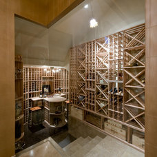Contemporary Wine Cellar by Pinnacle Architectural Studio