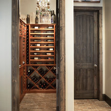 Traditional Wine Cellar by Milestone Custom Homes