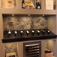 Contemporary Wine Cellar by Baywood Estate Homes