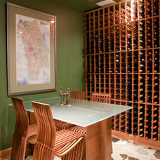 Contemporary Wine Cellar by NANO LLC