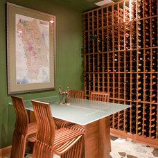 Contemporary Wine Cellar by NANO LLC