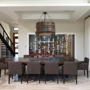 Inspiration pour une cave à vin minimaliste.