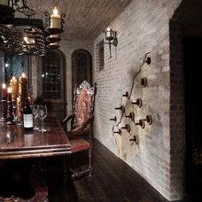 Traditional Wine Cellar by Van Trease Constructors