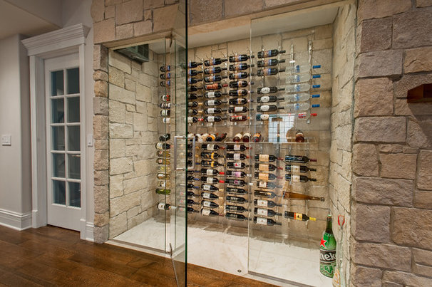 Contemporary Wine Cellar by Heritage Luxury Builders
