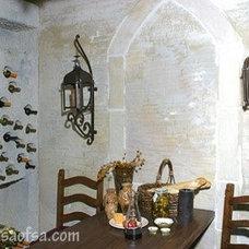 Mediterranean Wine Cellar by MSA ARCHITECTURE + INTERIORS