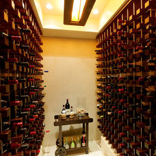 Contemporary Wine Cellar by Fritz Construction, Inc.