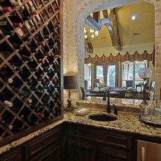 Traditional Wine Cellar by Larry Stewart Custom Homes