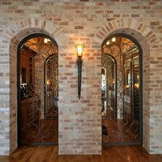Mediterranean Wine Cellar by Larry Stewart Custom Homes