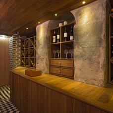 Modern Wine Cellar by Morris Architecture, llc