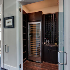 Contemporary Wine Cellar by Frankel Building Group