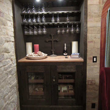 A Corking Station and Humidor Were Included in This Wine Cellar Design FL