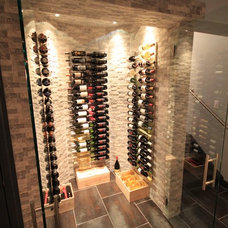 Traditional Wine Cellar by Joseph Pastore Custom Carpentry & Remodeling Inc.