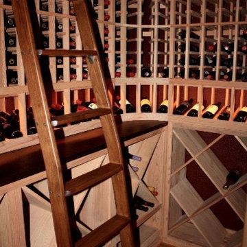 A Rolling Ladder - A Nice Touch to Any Wine Room TX